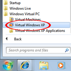 Virtual windows xp