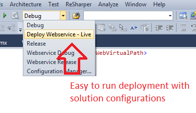 how to create a deployment project in visual studio 2012