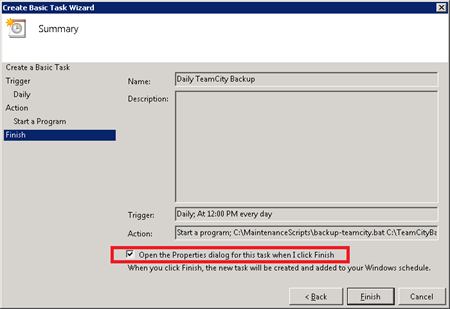 batch file runs manually but not scheduled task